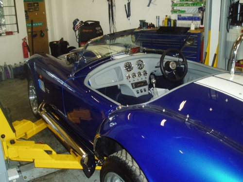 This customer brought in his AC Cobra to fix a spongy brake pedal, carry out an oil change service and MOT.